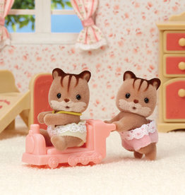 Calico Critters CC Hazelnut Chipmunk Twins