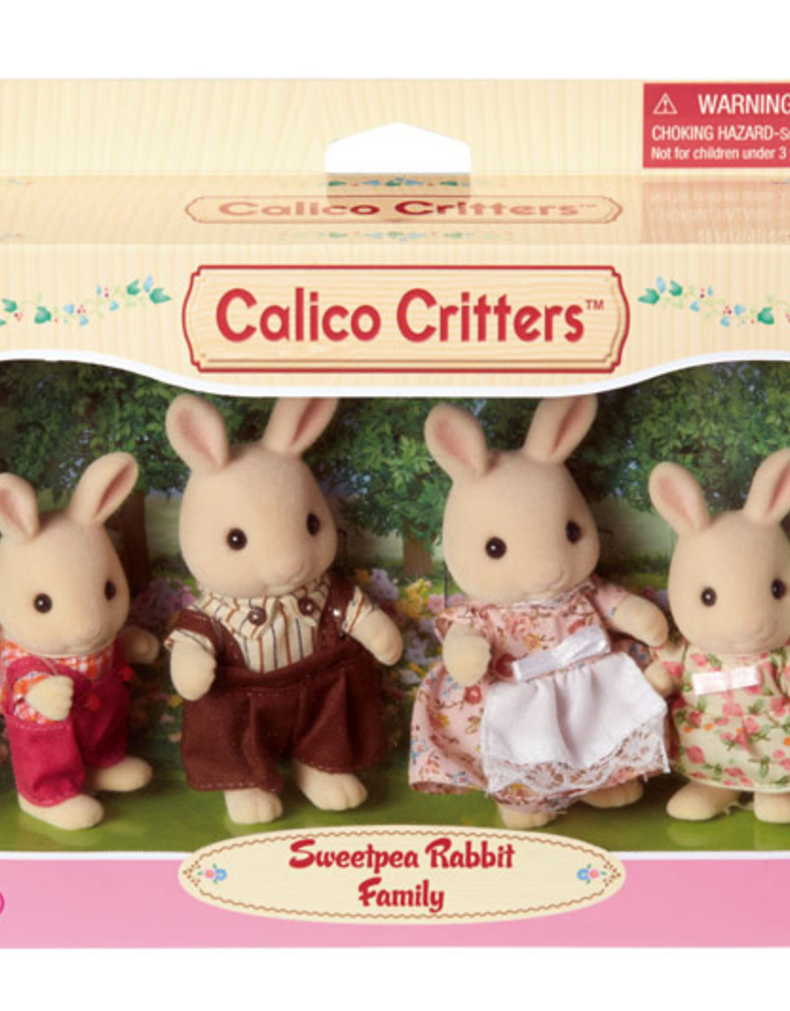 Calico Critters CC Sweetpea Rabbit Family