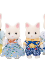 Calico Critters CC Silk Cat Family
