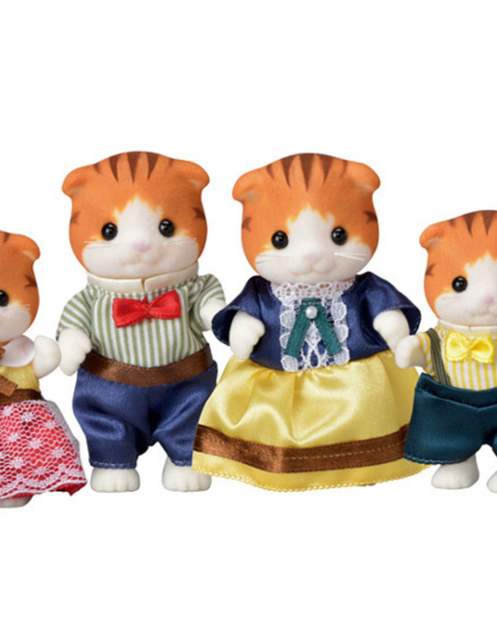 Calico Critters CC Maple Cat Family