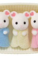 Calico Critters CC Marshmallow Mouse Triplets