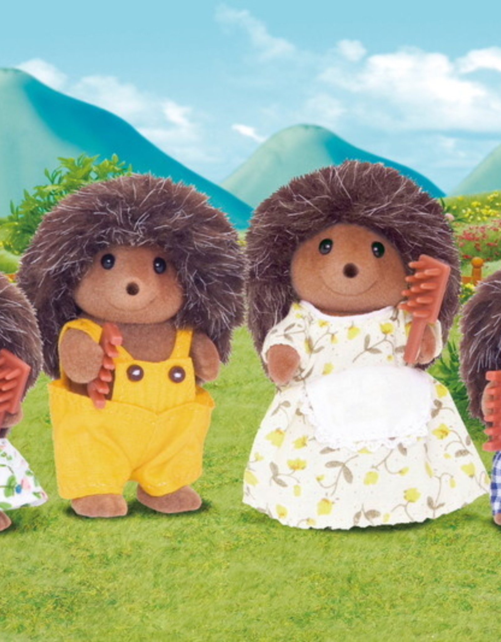 Calico Critters CC Pickleweeds Hedgehog Family