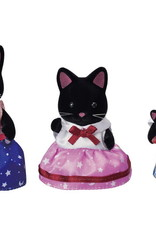 Calico Critters CC Midnight Cat Family