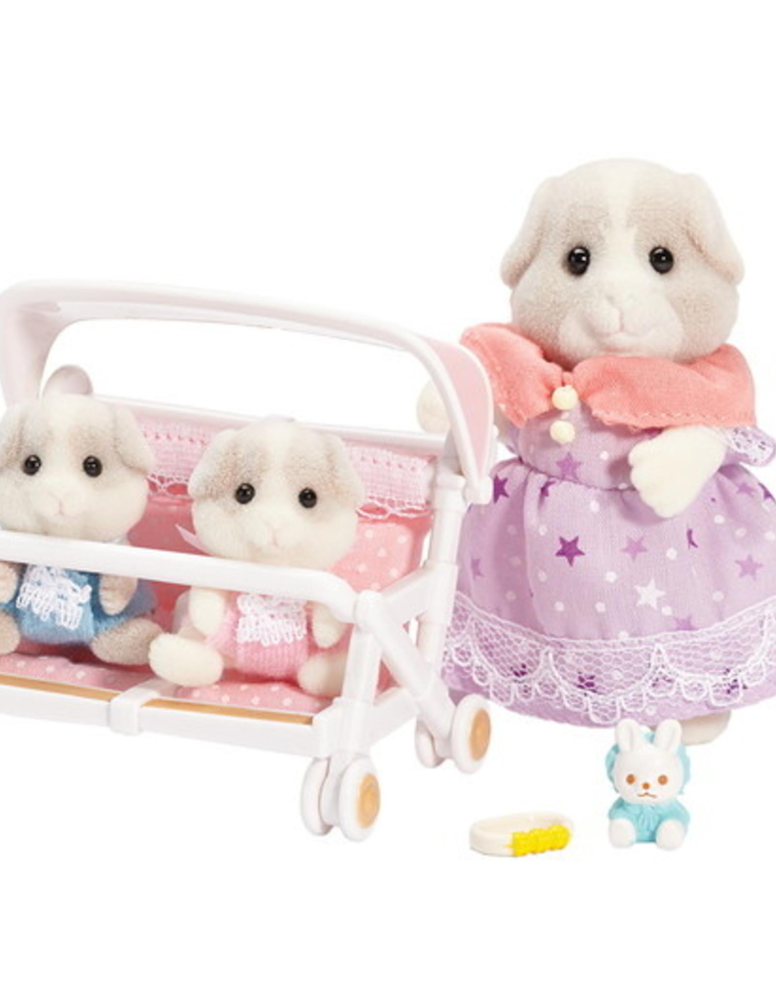 Calico Critters CC Patty & Paden's Double Stroller Set