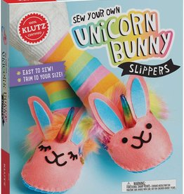 Klutz Sew Your Own Unicorn Bunny Slippers