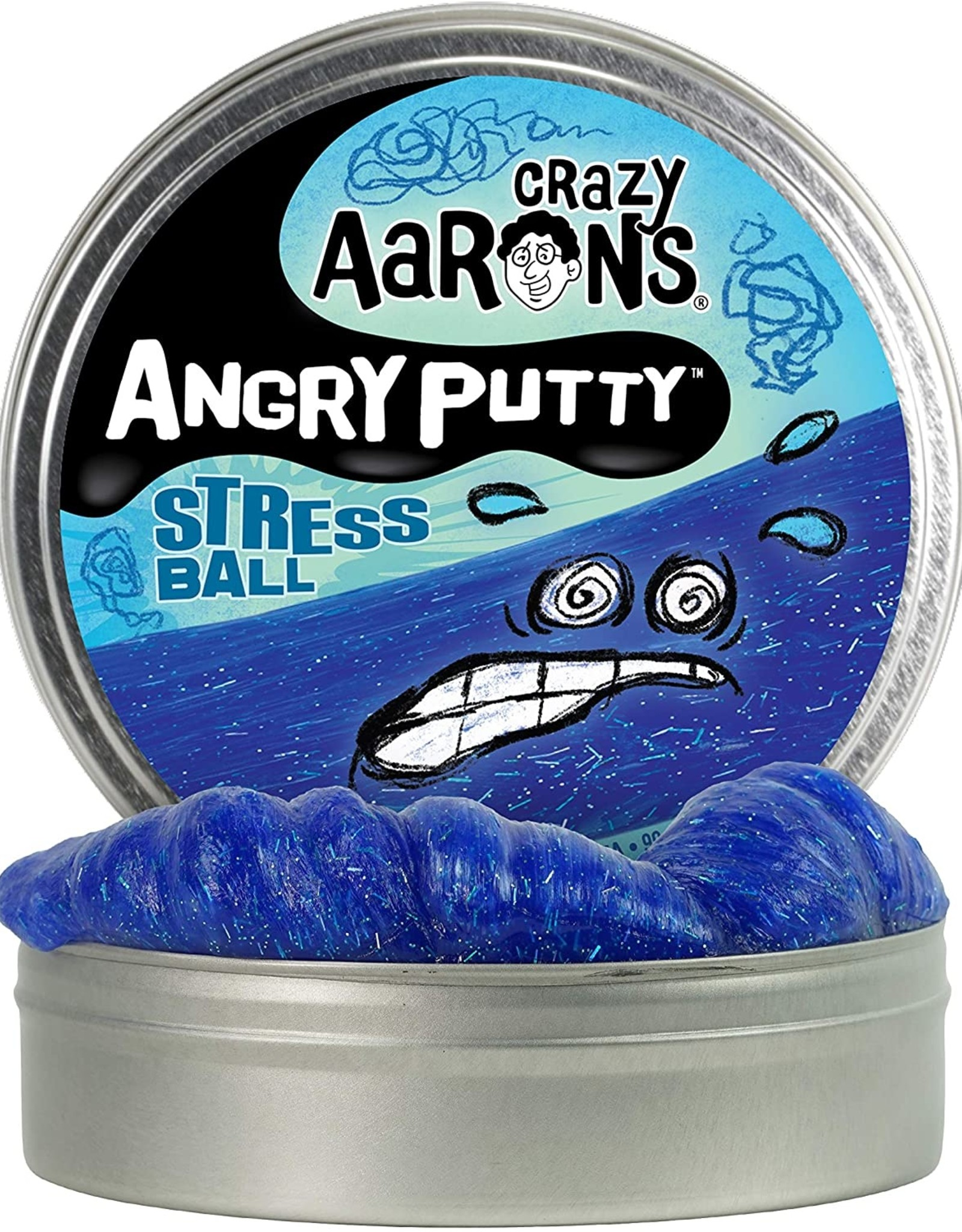 "Crazy Aaron's Puttyworld Crazy Aaron's Putty-  Stress Ball 4"" Tin"