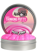 Crazy Aaron's Puttyworld Thinking Putty 2'' Mini Tin - Primary Hot Pink