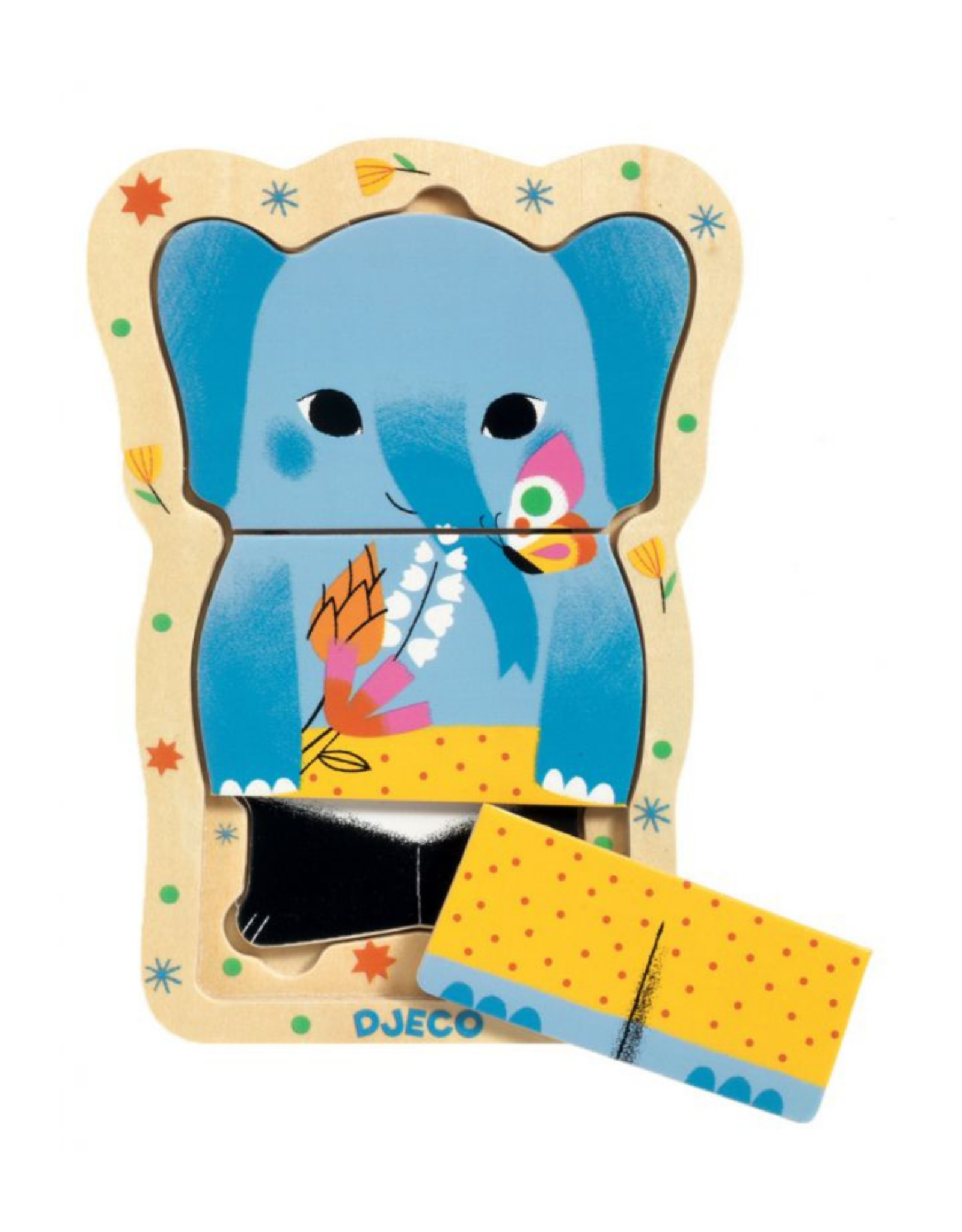 Djeco Wooden Puzzle - Lucky & Co Layered