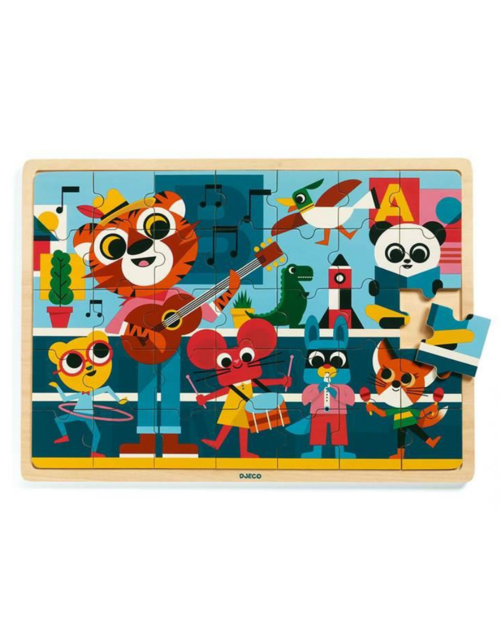 Djeco Wooden Jigsaw Puzzle - Puzzlo Music
