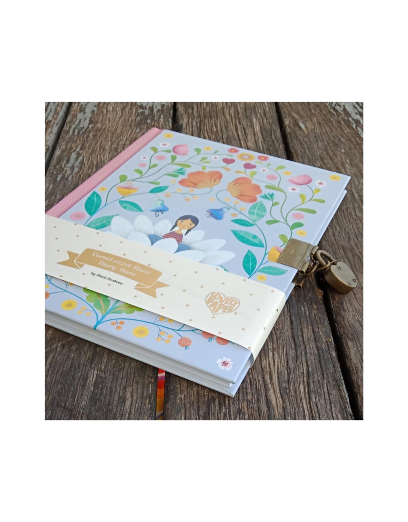 Lovely Paper Marie Lock + Key Secret Journal