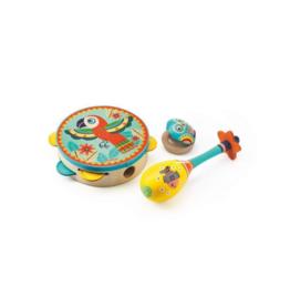 Djeco Animambo - Tambourine, Maraca, Castanet Musical Instrument Set
