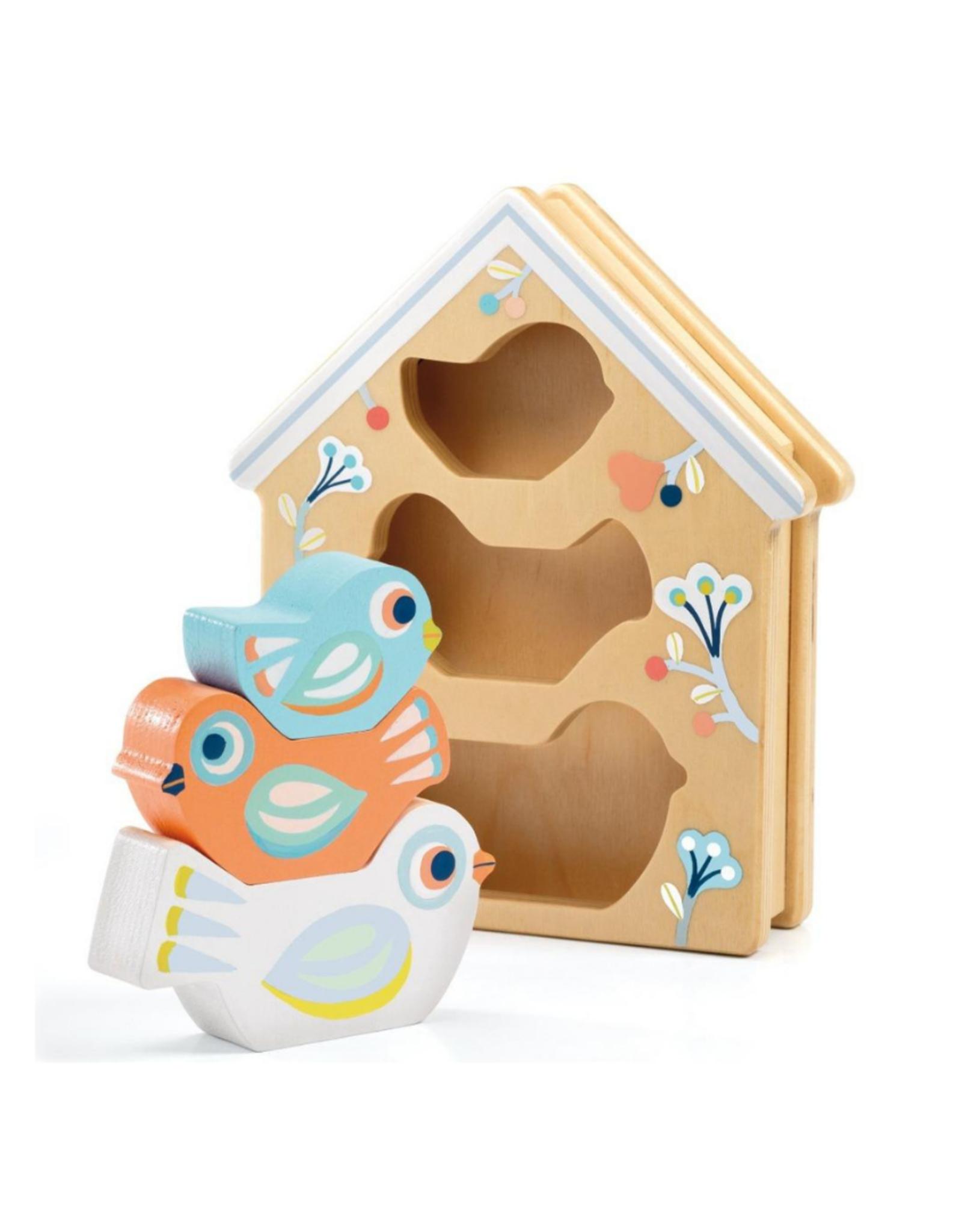 Djeco BabyBirdi - Wooden Puzzle