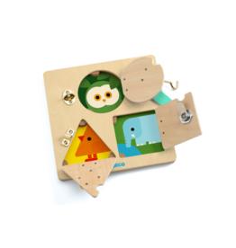 Djeco LockBasic - Locking/Unlocking Wooden Skill Board