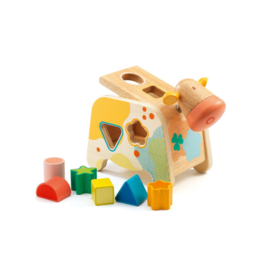 Djeco Cachatou Cow - Wooden Shape Sorter