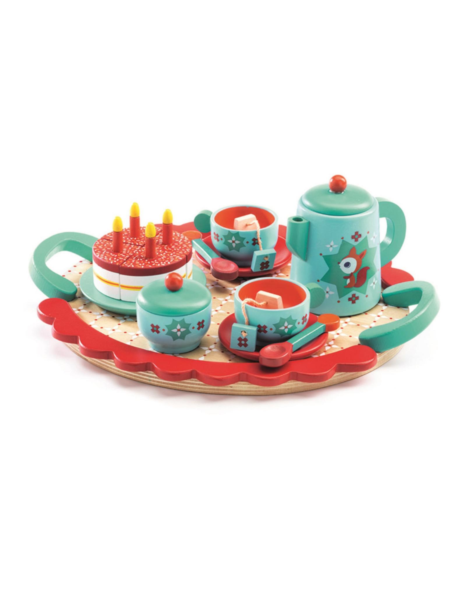 Djeco Djeco Wooden Tea Set - Fox's Party