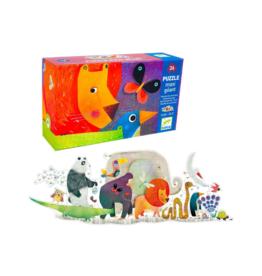 Djeco Giant Floor Puzzles - Animal Parade 36pcs