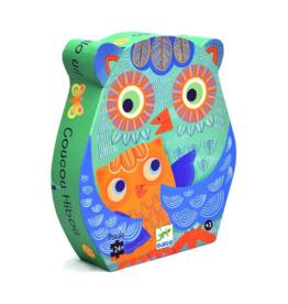 Djeco Silhouette Puzzle 24pc - Hello Owl