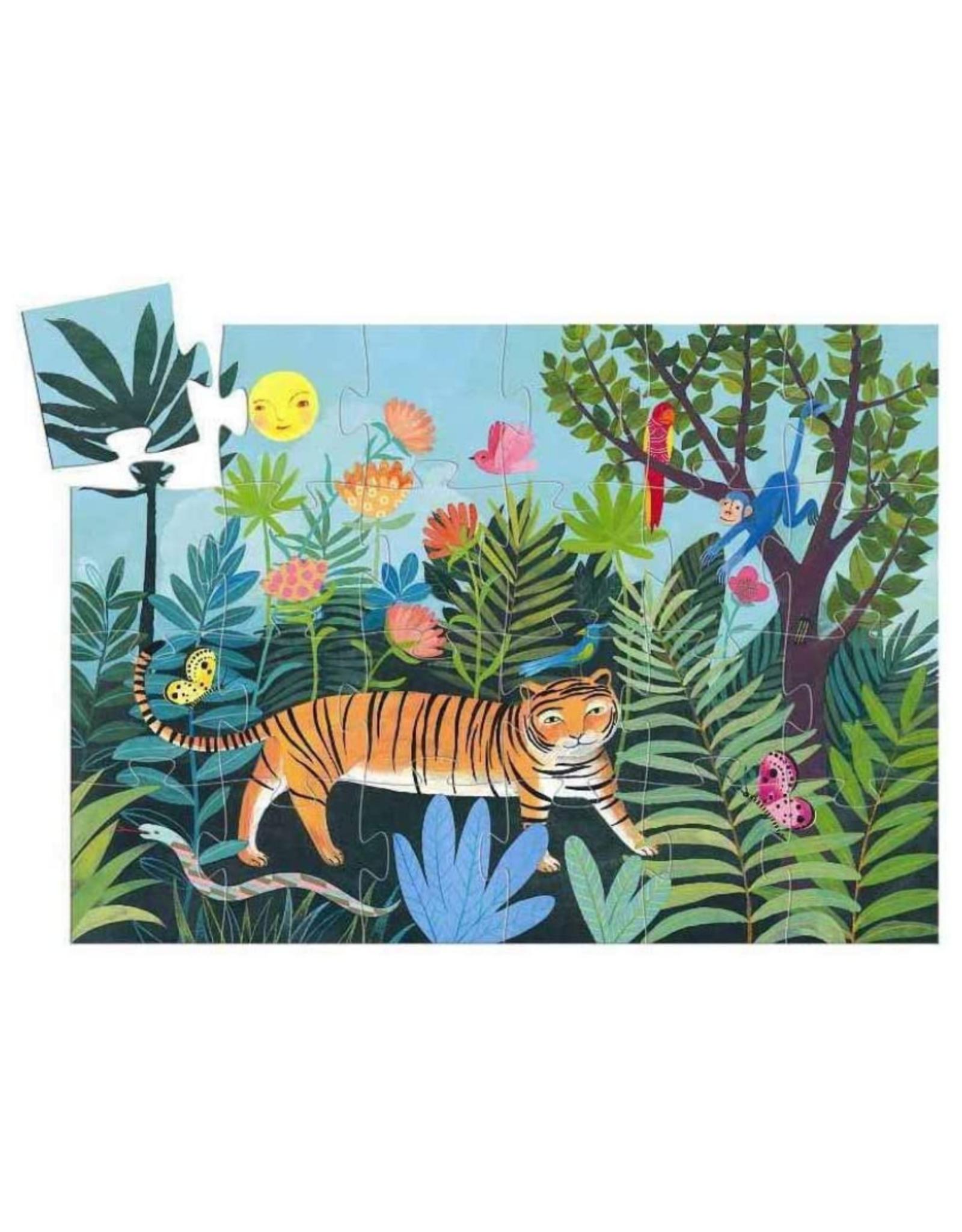 Djeco Silhouette Puzzle 24pc - The Tiger's Walk