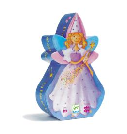 Djeco Silhouette Puzzle 36pc - The Fairy and the Unicorn