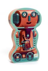 Djeco Silhouette Puzzle - Bob The Robot Puzzle 36 pcs
