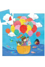 Djeco Silhouette The Hot Air Balloon Puzzle 16pc