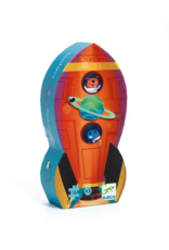 Djeco Silhouette Spaceship Puzzle 16pc
