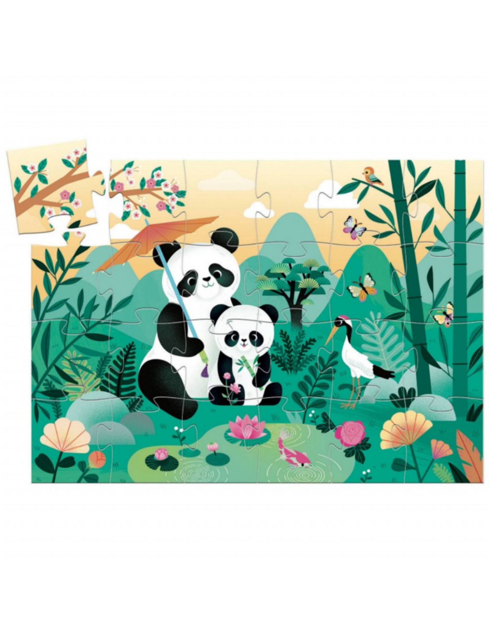 Djeco Silhouette Leo The Panda 24pc