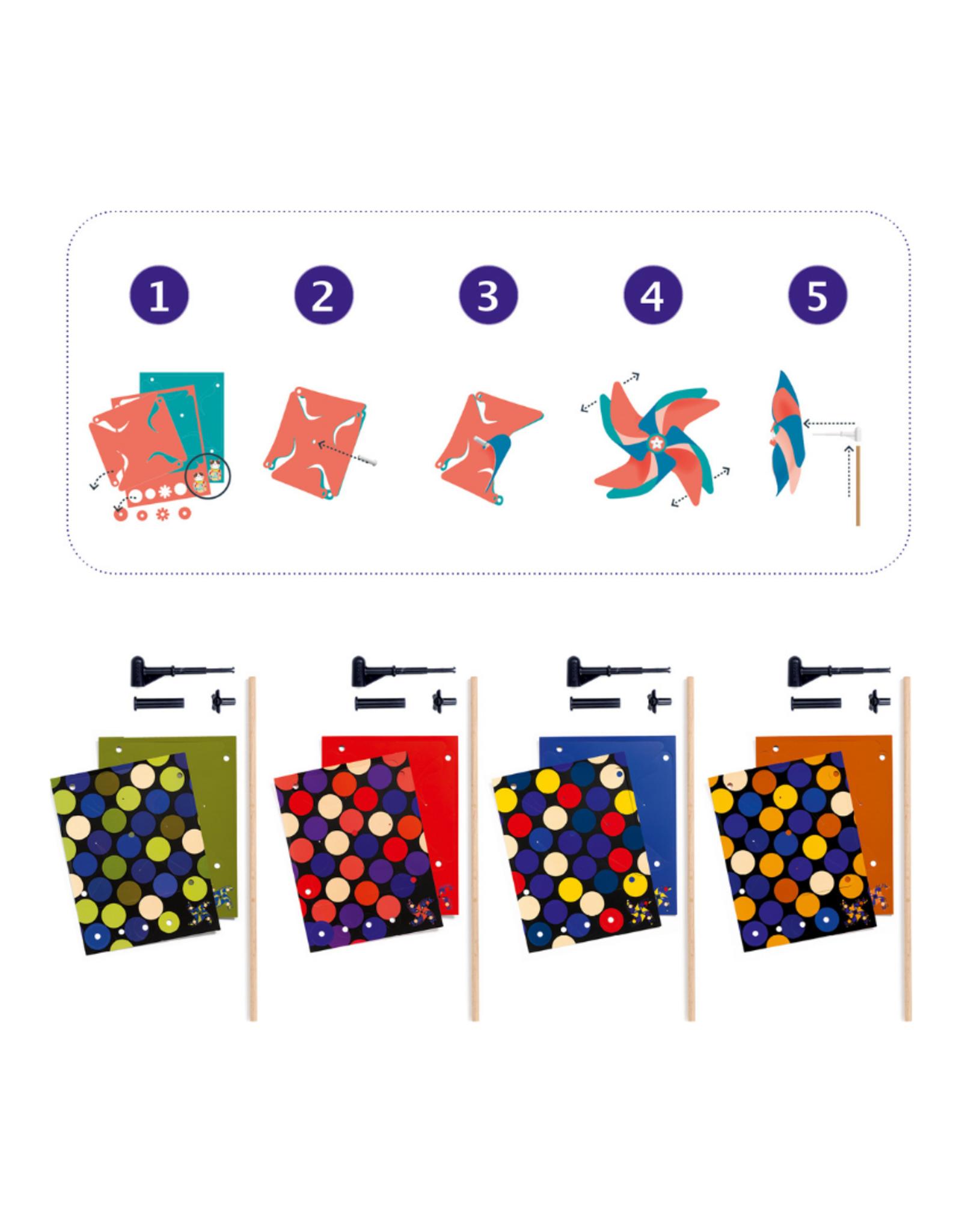 Djeco Spots DIY Pinwheel Craft Kit