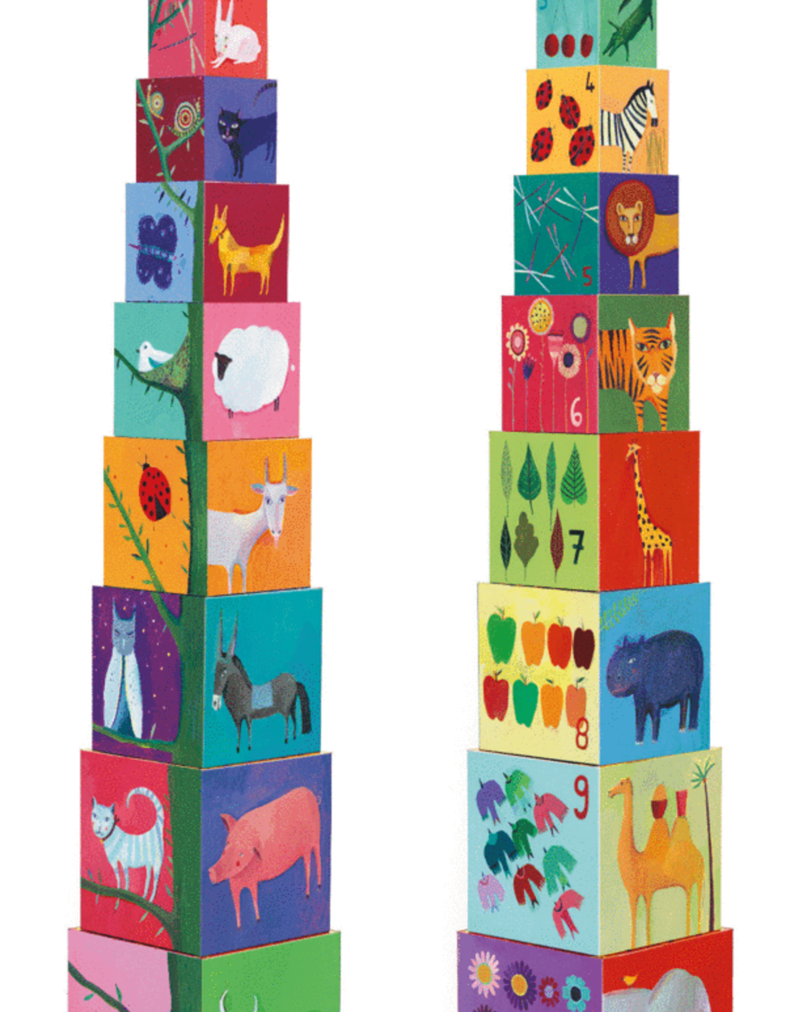 Djeco Blocks & Towers - Nature & Animal Blocks