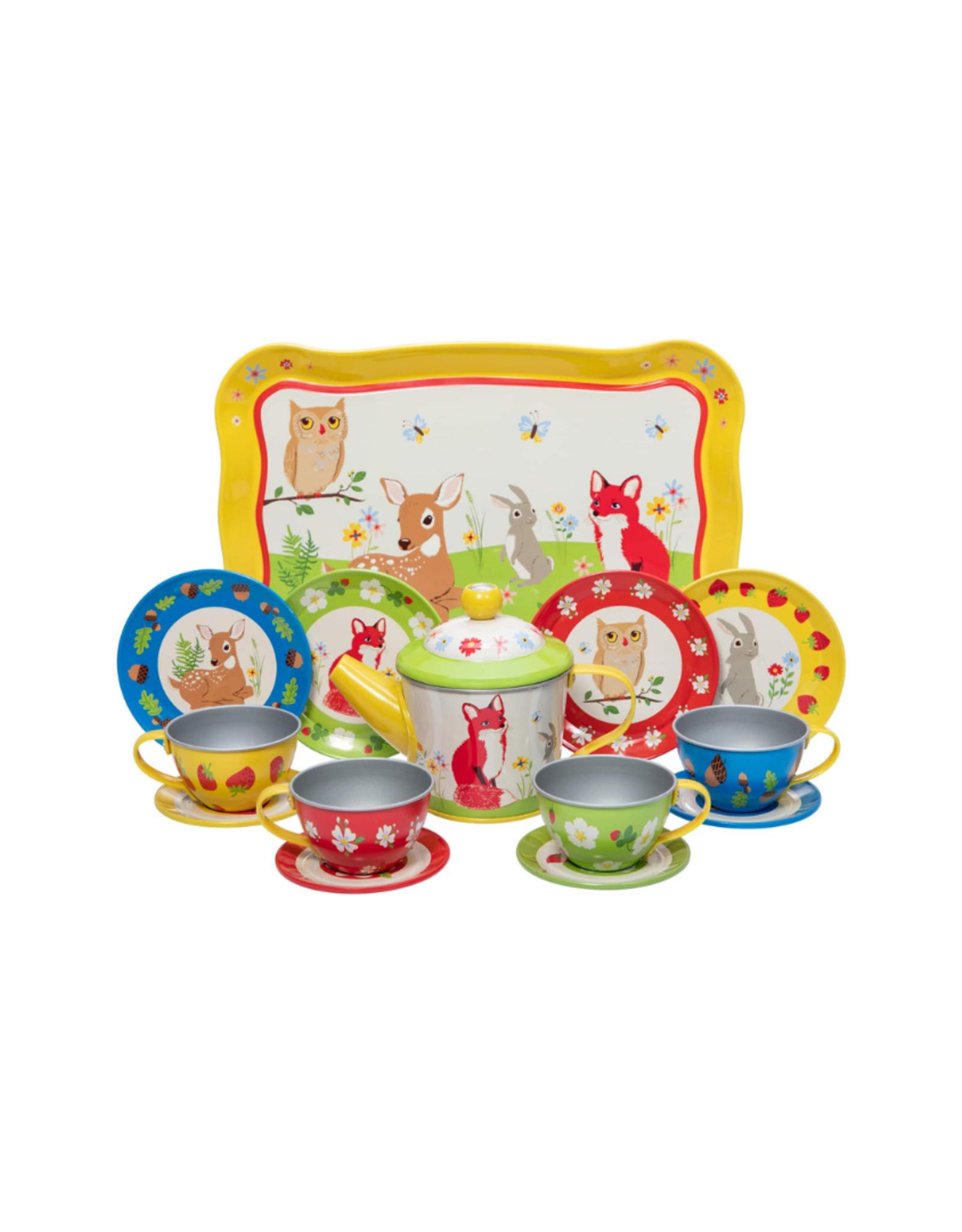 Schylling Tin Tea Set - Forest Friends