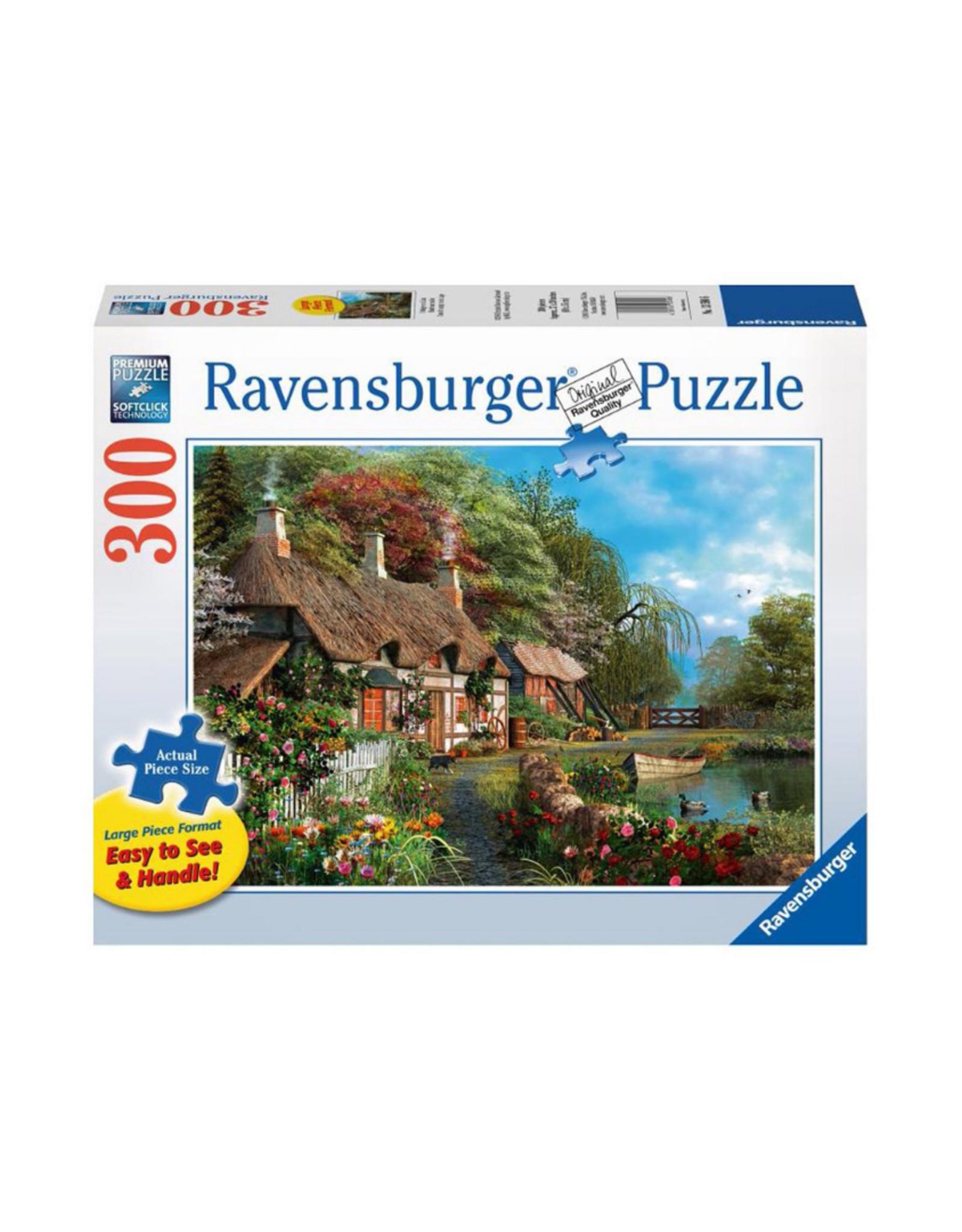 Ravensburger Cottage on a Lake 300pc Puzzle Large Format