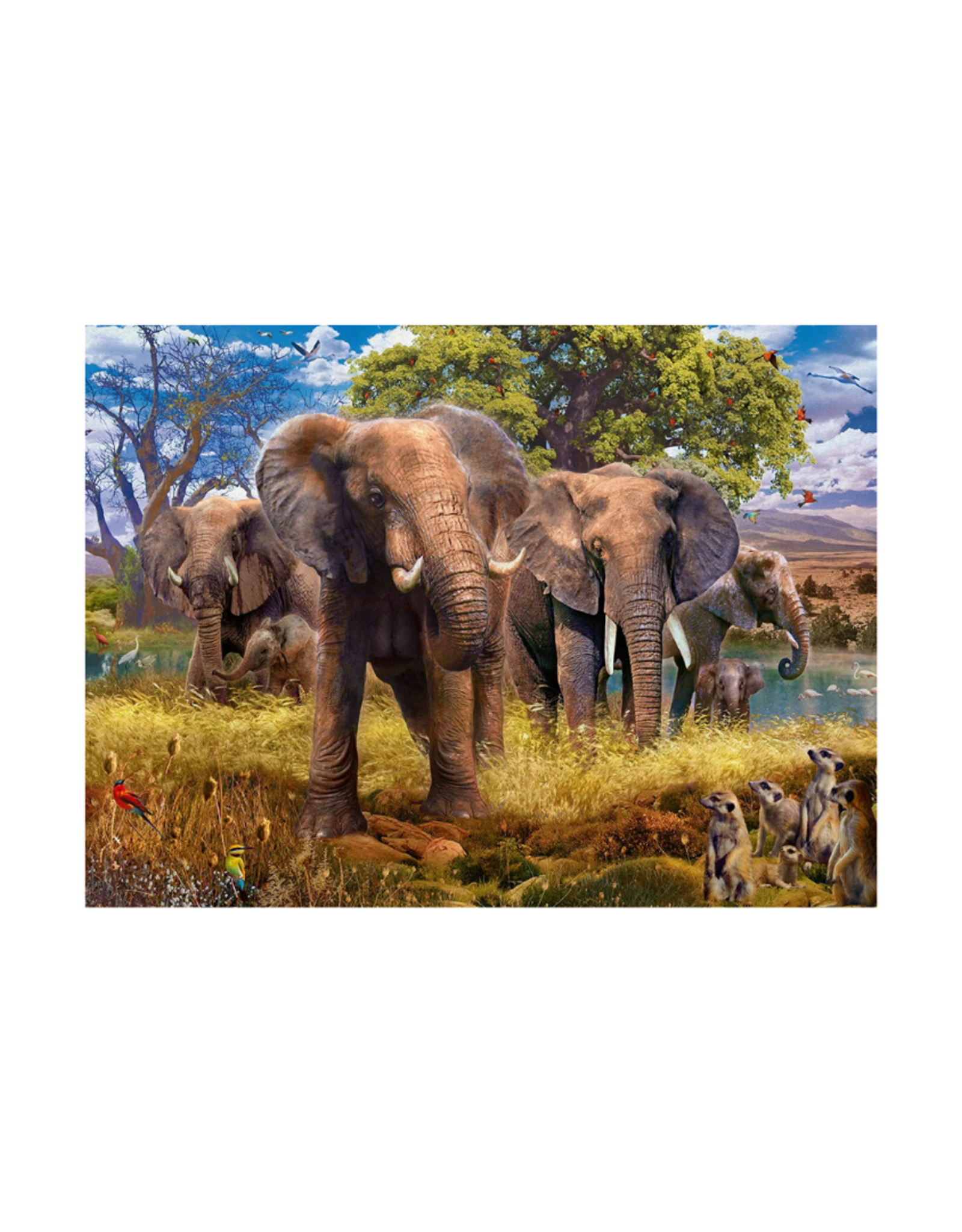 Ravensburger Elephants 500pc Puzzle
