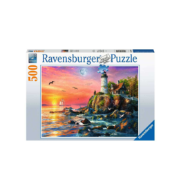 Ravensburger Lighthouse at Sunset 500pc Puzzle