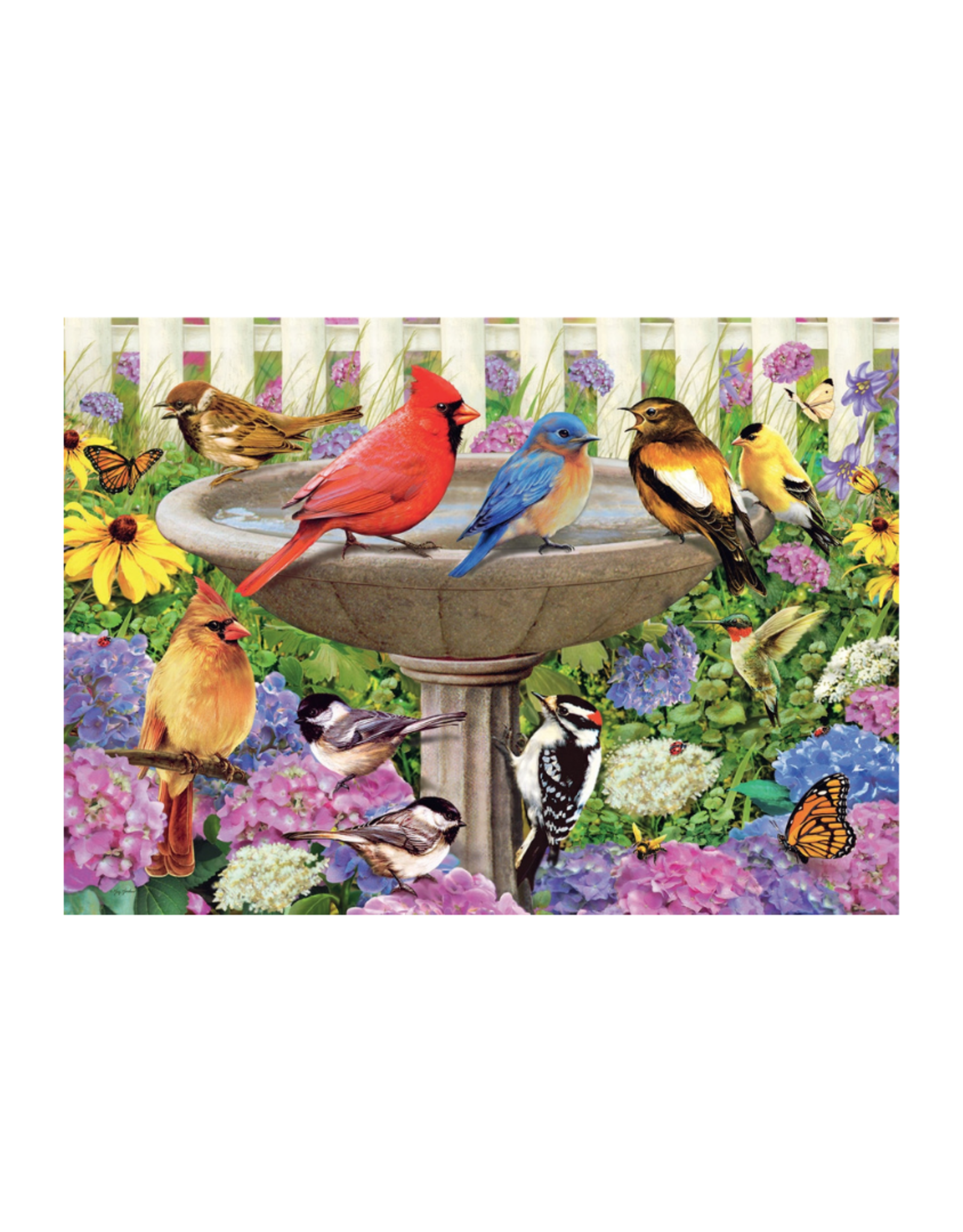 Ravensburger At the Birdbath 500pc Puzzle Large Format