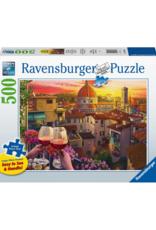 Ravensburger Cozy Wine Terrace 500pc Puzzle Large Format