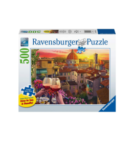 Ravensburger Cozy Wine Terrace 500pc Puzzle Large Format