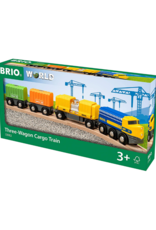Brio Brio - Three Wagon Cargo Train