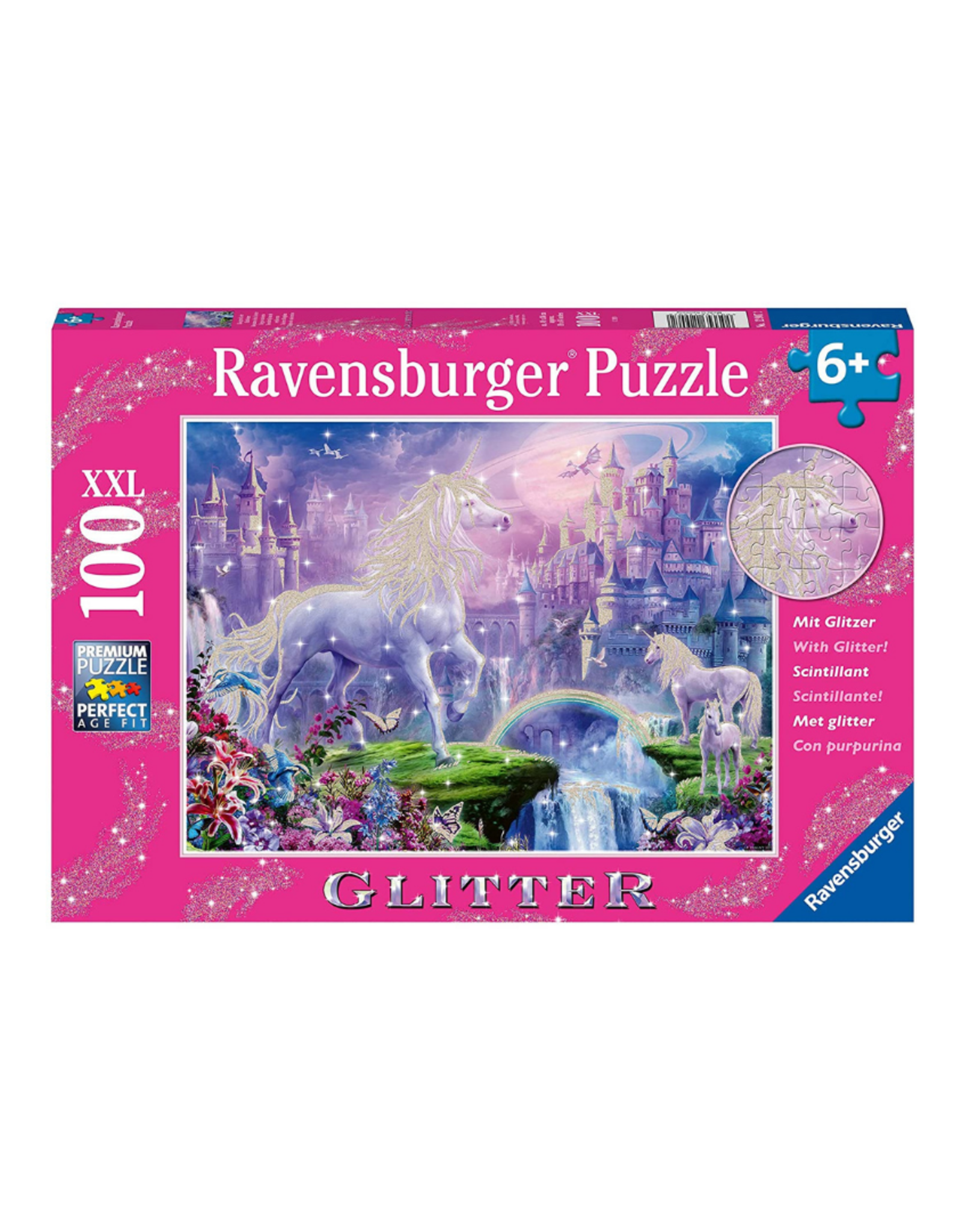 Ravensburger Glitter Unicorn 100pc Glitter Puzzle