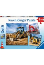 Ravensburger Diggers at Work 3 x 49 pc Puzzle