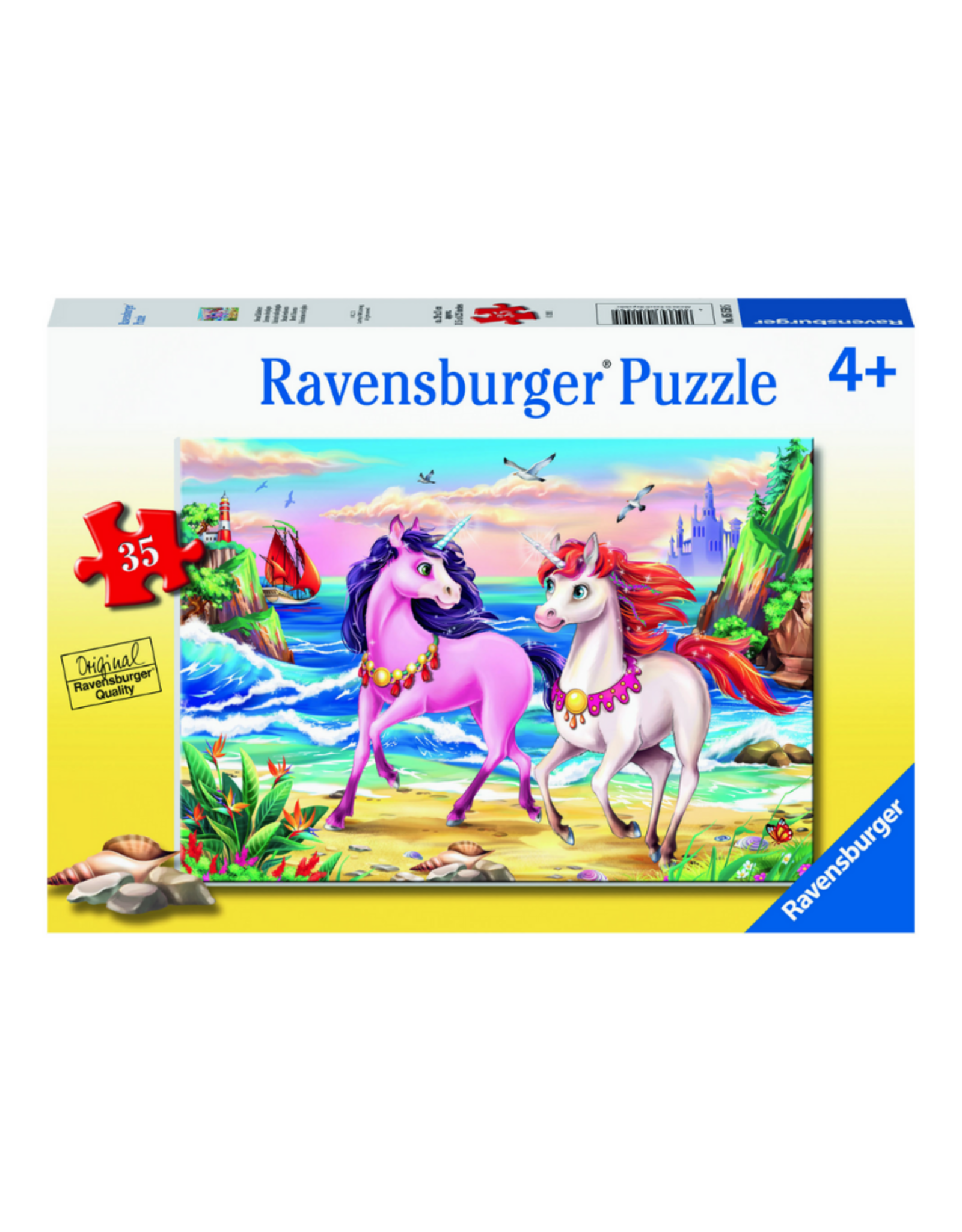 Ravensburger Beach Unicorns 35pc Puzzle