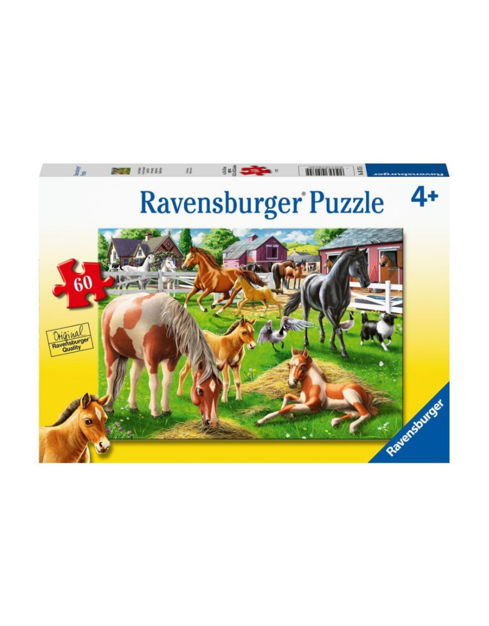 Ravensburger Happy Horses 60pc Puzzle