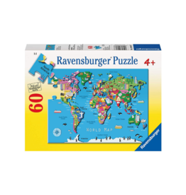 Ravensburger World Map 60pc Puzzle