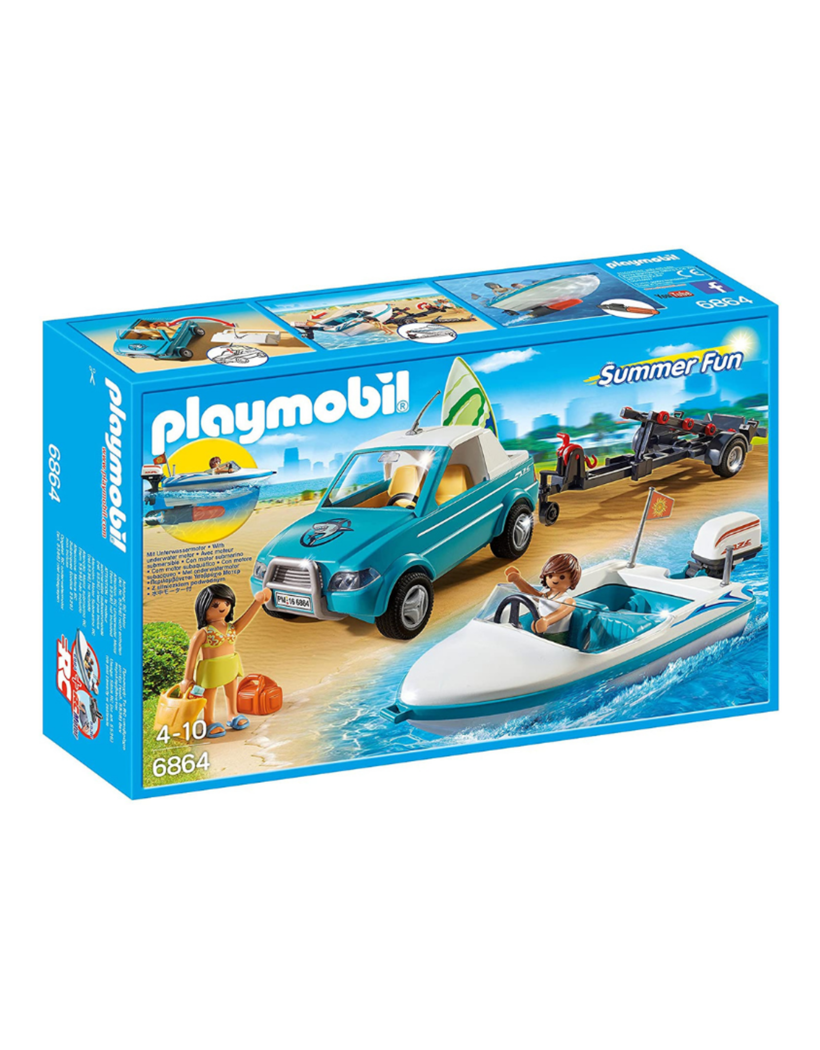 Playmobil PM - Pick-Up with Speedboat