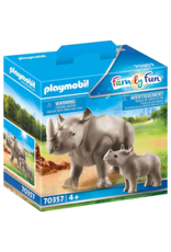 Playmobil PM - Rhino with Calf