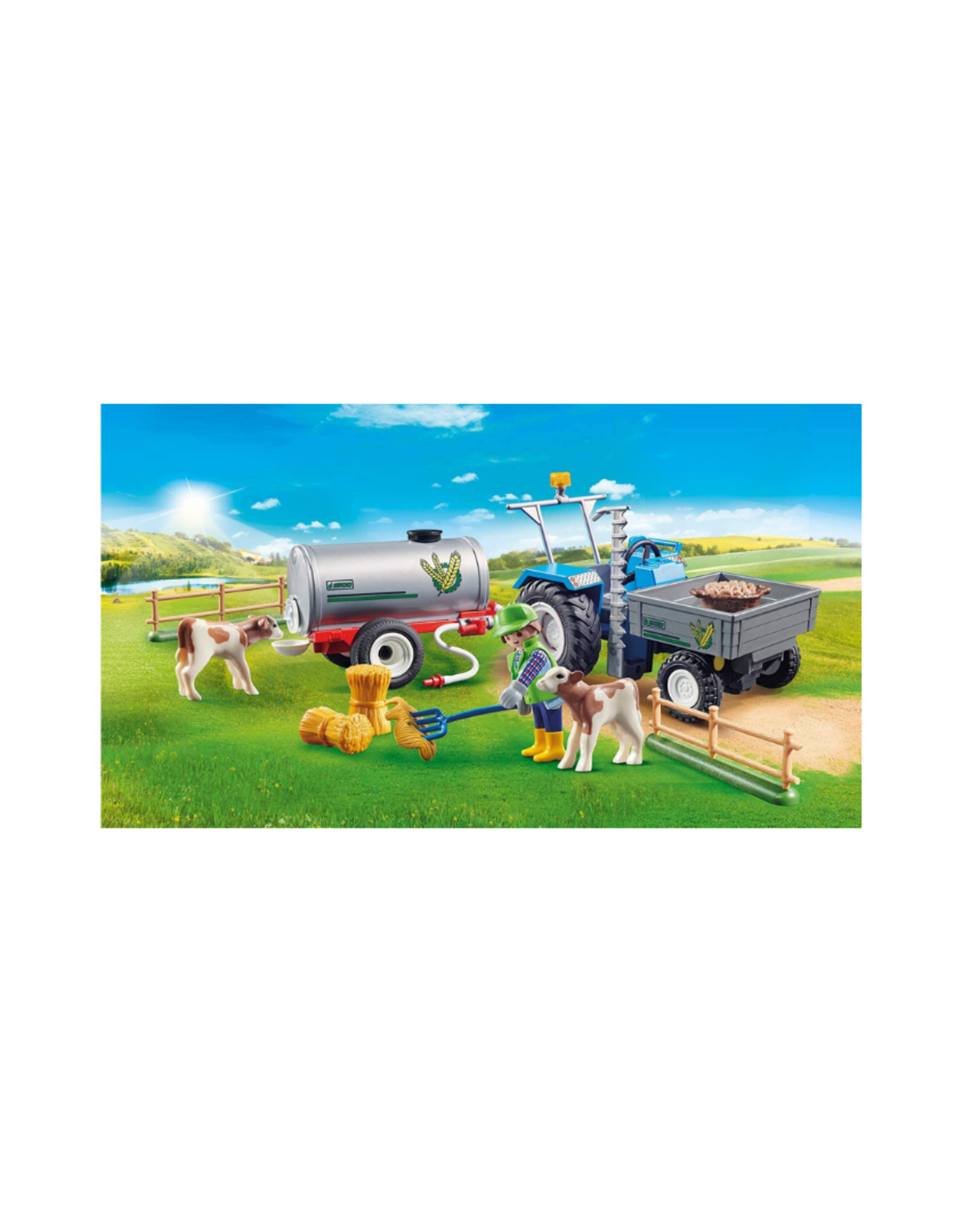 Playmobil PM - Loading Tractor with Water Tank