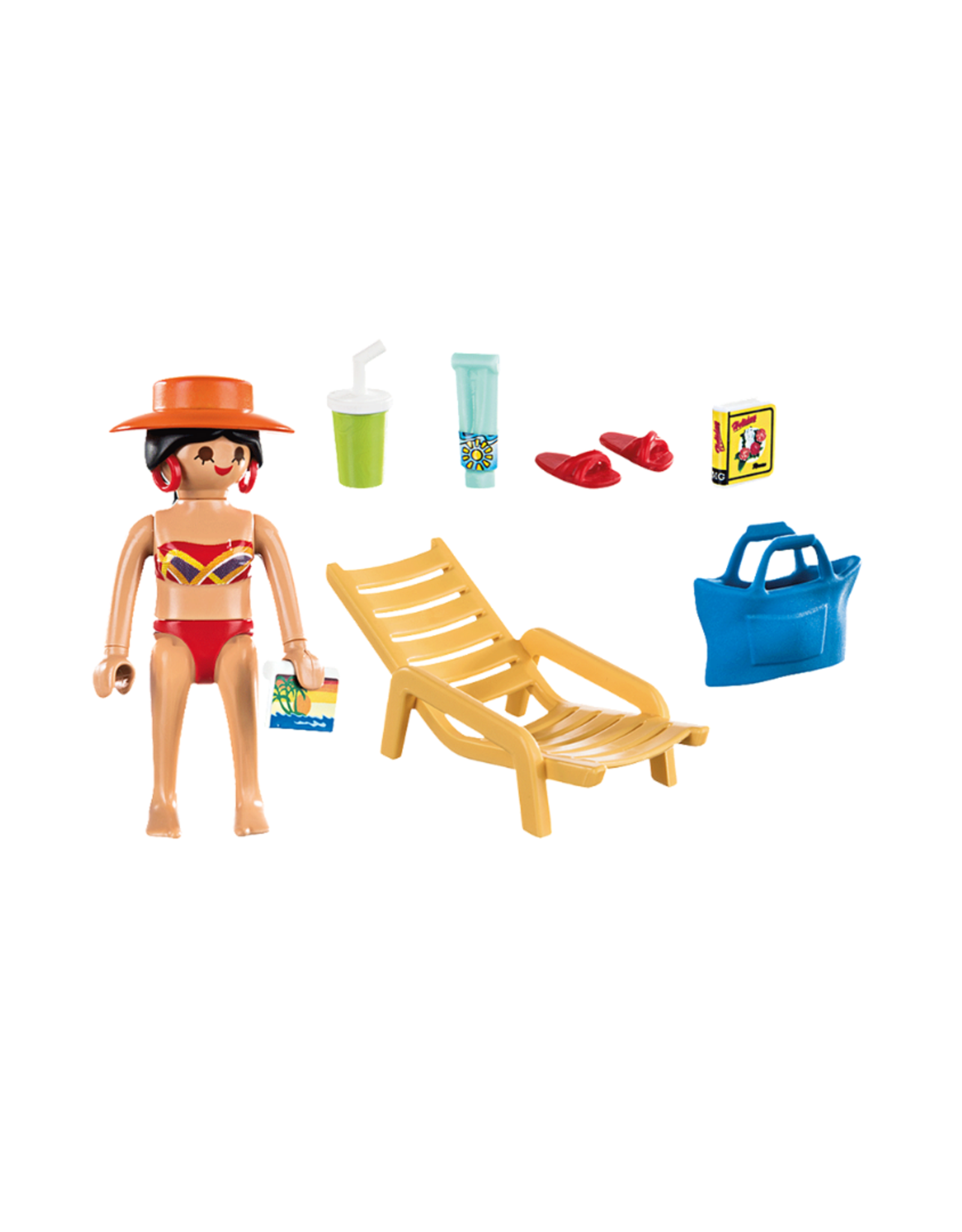 Playmobil PM - Sunbather with Lounge Chair