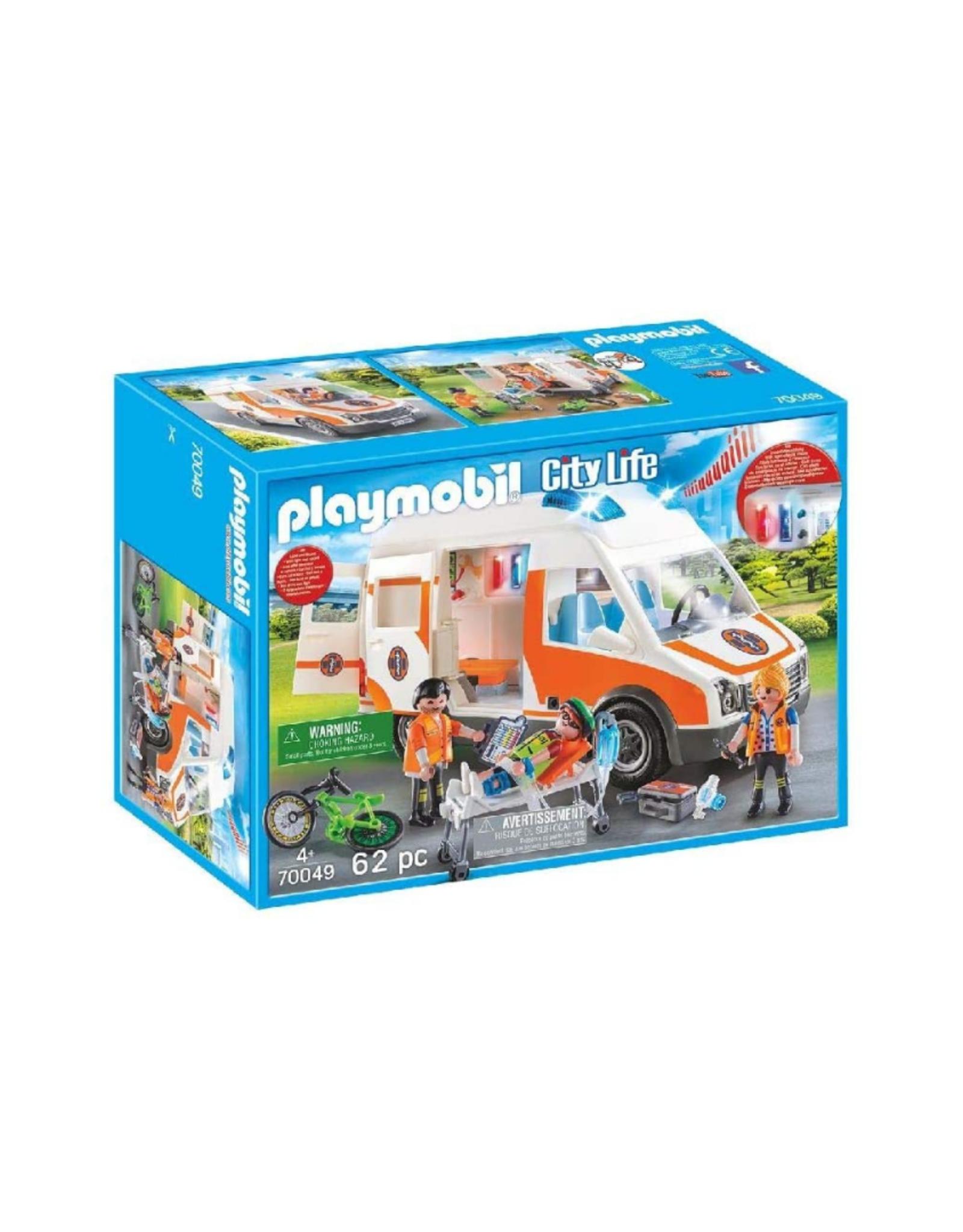 Playmobil PM - Ambulance with Flashing Lights