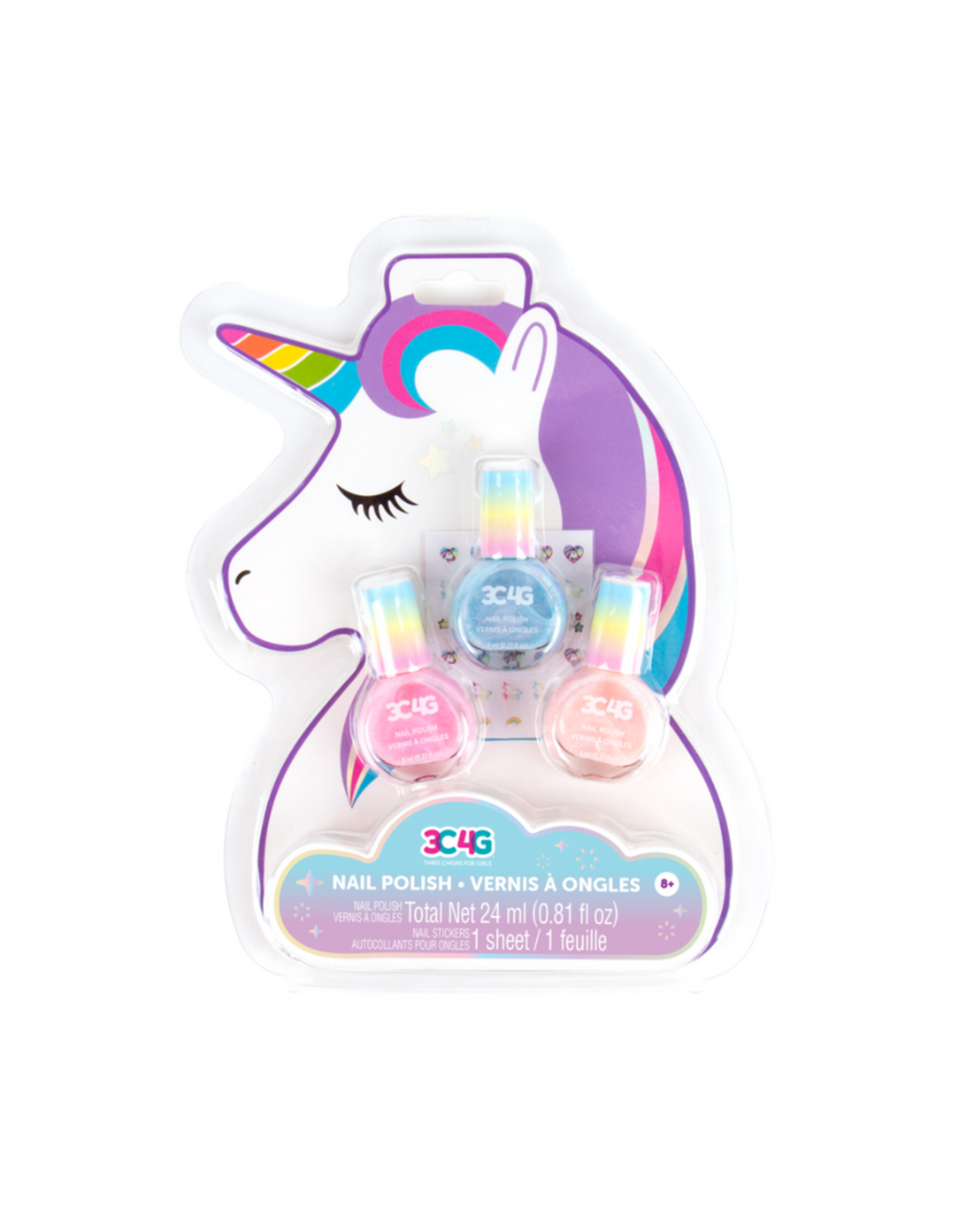 3C4G Unicorn Glimmer Nail Polish Trio