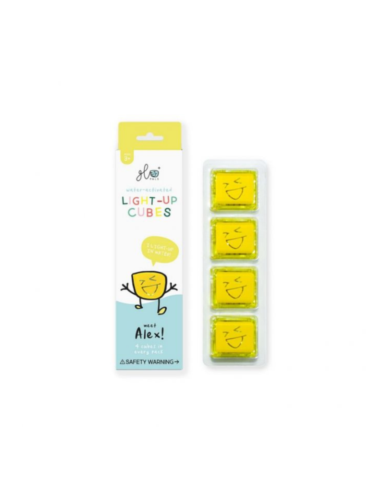 Glo Pals Glo Pals - Alex 4pk Yellow