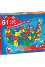Melissa & Doug USA Map 48pc Floor Puzzle